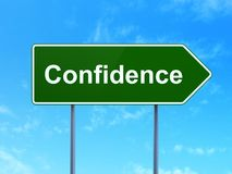Business concept: Confidence on road sign background Royalty Free Stock Photography