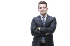 Business people.portrait of a young businessman Stock Image