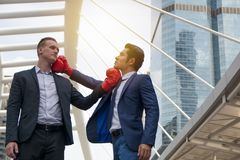 Business concept - Conflicts doing business. Business concept - Competition in doing business Stock Photo