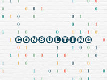Business concept: Consulting on wall background Royalty Free Stock Images