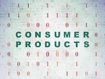 Business concept: Consumer Products on Digital Data Paper background. Business concept: Painted green text Consumer Products on Digital Data Paper background Stock Photography