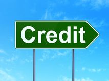 Business concept: Credit on road sign background Royalty Free Stock Image