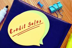 Business concept about Credit Sales with inscription on the page