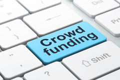 Business concept: Crowd Funding on computer Royalty Free Stock Photography
