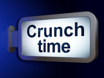 Business concept: Crunch Time on billboard background Royalty Free Stock Photo
