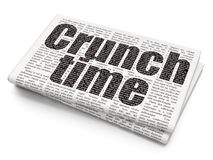 Business concept: Crunch Time on Newspaper background Stock Photography