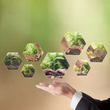 Business concept of CSR or Corporate Social Responsibility Royalty Free Stock Image