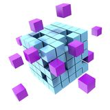 Business concept cube Royalty Free Stock Image