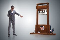 The business concept of debt and borrowing. Business concept of debt and borrowing stock photos