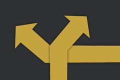 Business concept and decision making idea. Two direction with yellow arrow, business concept and decision making idea Stock Photo