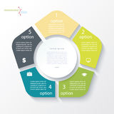 Business concept design with circle and 5 segments Stock Photo