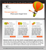 Business concept and design of website vector illustration