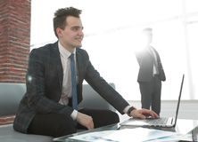 Business concept.determined young businessman Stock Photography