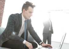 Business concept.determined young businessman Royalty Free Stock Photo