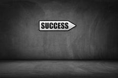 Business concept: directional sign with success text.  Royalty Free Stock Photo