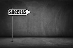 Business concept: directional sign with success text Royalty Free Stock Image