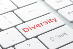Business concept: Diversity on computer keyboard background Royalty Free Stock Photos
