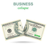 Business concept with dollar Royalty Free Stock Photography
