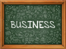 Business Concept. Doodle Icons on Chalkboard. Stock Photography