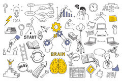 Business concept in doodle style royalty free illustration