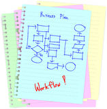 Business concept drawing on notepad Royalty Free Stock Photos