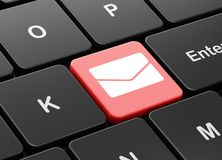 Business concept: Email on computer keyboard background. Business concept: computer keyboard with Email icon on enter button background, 3D rendering Royalty Free Stock Photography