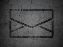 Business concept: Email on grunge wall background. Business concept: Black Email on grunge textured concrete wall background, 3d render Stock Photos