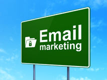 Business concept: Email Marketing and Folder With Stock Photos
