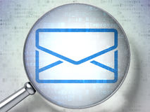 Business concept: Email with optical glass on Royalty Free Stock Photos