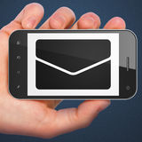 Business concept: Email on smartphone Royalty Free Stock Photos