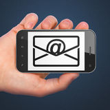 Business concept: Email on smartphone Royalty Free Stock Image