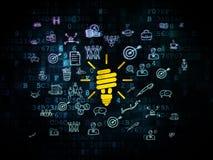Business concept: Energy Saving Lamp on Digital Royalty Free Stock Photos