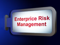 Business concept: Enterprice Risk Management on billboard background. Business concept: Enterprice Risk Management on advertising billboard background, 3D Stock Photography