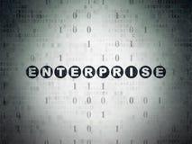 Business concept: Enterprise on Digital Paper Stock Images