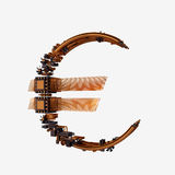 Business concept. Euro Currency Symbol of microchips isolated on white background. Stock Photos