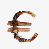 Business concept. Euro Currency Symbol of microchips isolated on white background. Stock Images