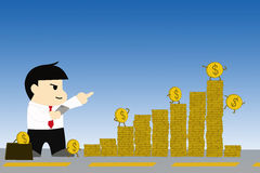 Business concept every investment has risks. Business concept every investment has risks financial hole Stock Images
