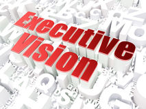 Business concept: Executive Vision on alphabet Royalty Free Stock Images