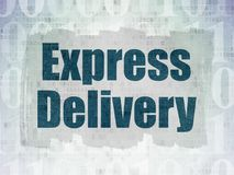 Business concept: Express Delivery on Digital Data Paper background. Business concept: Painted blue text Express Delivery on Digital Data Paper background with Royalty Free Stock Photo