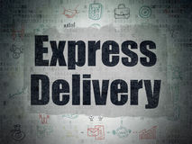 Business concept: Express Delivery on digital. Business concept: Painted black text Express Delivery on Digital Paper background with  Scheme Of Hand Drawn Stock Photos
