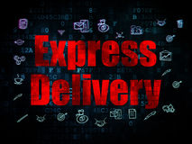 Business concept: Express Delivery on Digital Stock Image