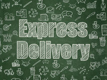 Business concept: Express Delivery on School Board Royalty Free Stock Image