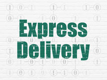 Business concept: Express Delivery on wall Stock Photos