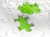 Business concept - final piece of jigsaw puzzle Royalty Free Stock Photos