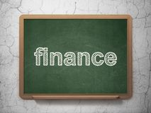 Business concept: Finance on chalkboard background Royalty Free Stock Photo