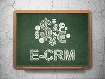 Business concept: Finance Symbol and E-CRM on Royalty Free Stock Photos