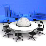 Business concept. Financial conference. Business concept, Financial conference. 3d render Stock Photos