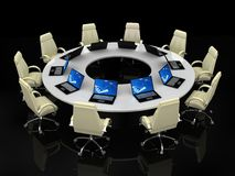 Business concept. Financial conference. Business concept, Financial conference. 3d render Royalty Free Stock Image