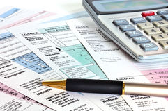 Business concept. Financial papers. Stock Image