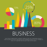 Business concept in flat design. Vector illustration Stock Image